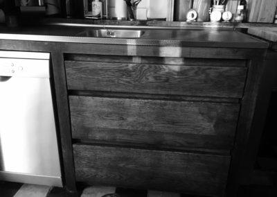 rustieke eiken keukenkast